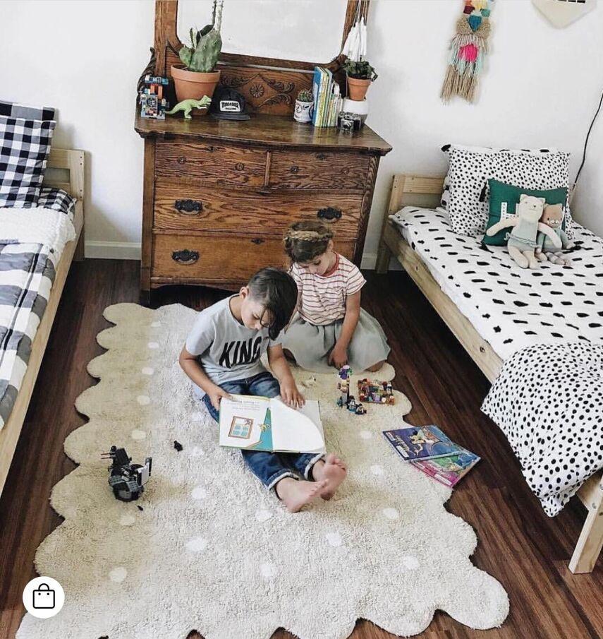 Tapis bébé nordique tapis nouveau-né coton bébé enfants tapis épais jouet carré jeu activité tapis jouet enfants