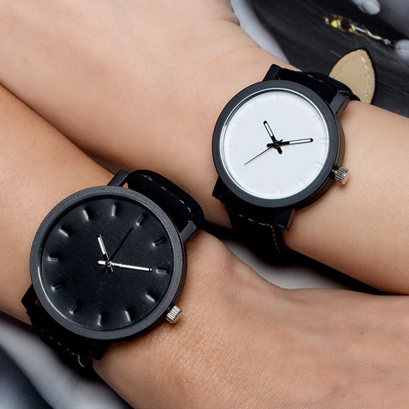 BGG Couples Women Leather Watches Lovers Quartz Watch Men Brand Luxury Wristwatch Female Male Ladies simple casual Clock Hours