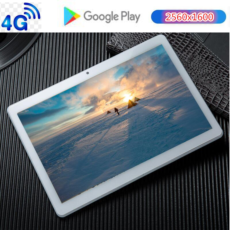 CARBAYTA CP10 10 Inch Tablets PC 10 Core 128GB ROM Dual SIM 8.0 MP GPS Android 9.0 Google IPS The Tablet 4G LTE Glass Back Shell