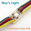 20 pcs frete grátis retângulo 1 x SMD5050 RGB impermeável módulo de LED para publicidade