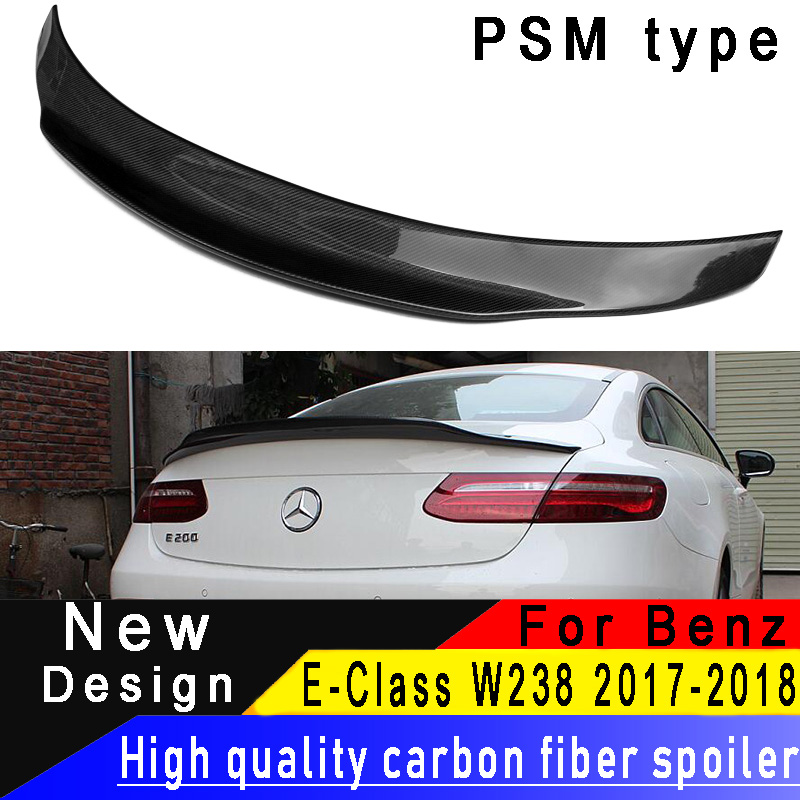 For Mercedes-Benz E-Class W238 <font><b>C238</b></font> 2-door Coupe Rear Wing E300 E350 E550 2017 2018 High quality carbon fiber <font><b>spoiler</b></font> image
