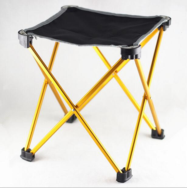 Portable Folding Chair Aluminum Four Leg Stool for Outdoor Fishing Backpacking Camping Picnic BBQ Traveling fishing stool bamboo bamboo portable folding stool have small bench wooden fishing outdoor folding stool campstool train