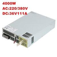 4000 Вт 36 В 111A DC 0 36 В источника питания 36 В 111A AC DC высоком Мощность PSU 0 5 В аналогового сигнала управления SE 4000 36