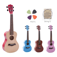 High Quality 23 Inch Colorful Ukulele Hawaii Four String Guitar Ukelele + String + Pick Suitable for Both Beginners & Children
