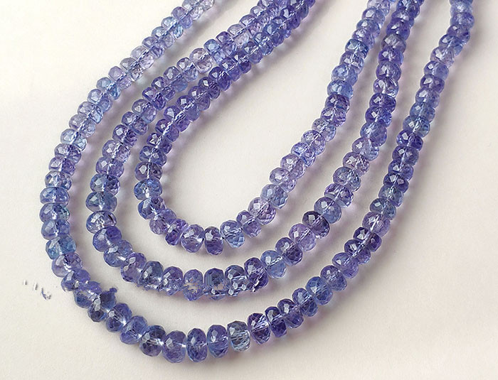 loose beads Tanzanite roundel faceted 4-5mm 32cm AA  for DIY jewelry making FPPJ wholesale beads nature gem stoneloose beads Tanzanite roundel faceted 4-5mm 32cm AA  for DIY jewelry making FPPJ wholesale beads nature gem stone