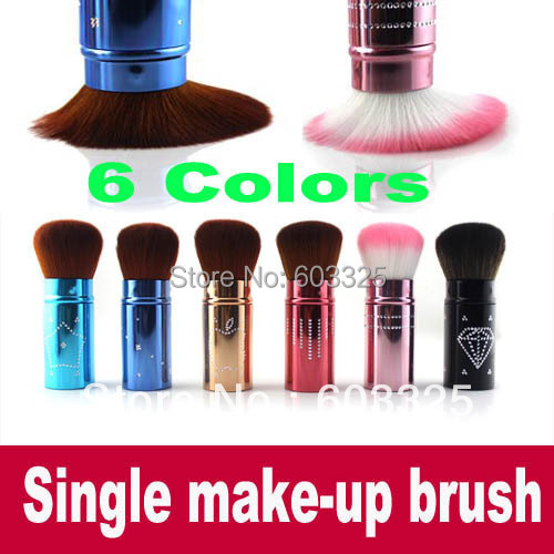 Single Make-Up Brush Blusher Brush Foundation Face Powder makeup make up brushes Set Cosmetic Brushes Kit Makeup Tools 6 colors jargar jag6906m3s2 new men automatic fashion dress watch silver color wristwatch with black leather band free shipping
