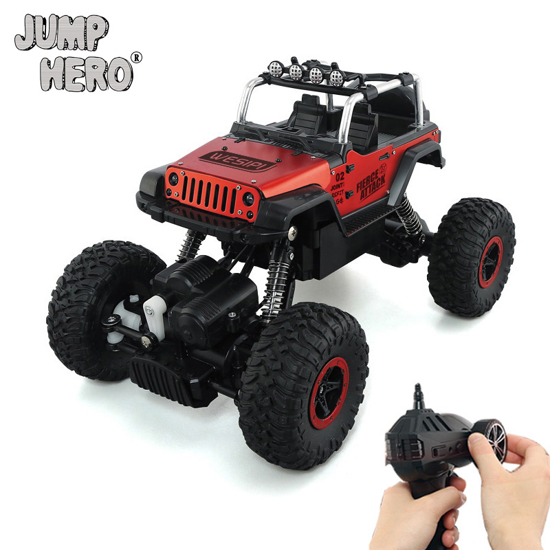 RC Car 2.4GHz 4WD 1:18 Metal Remote Control Car Child's Toys 20Km/h Double Motors High Speed Racing Climbing Car Kids Gift #D