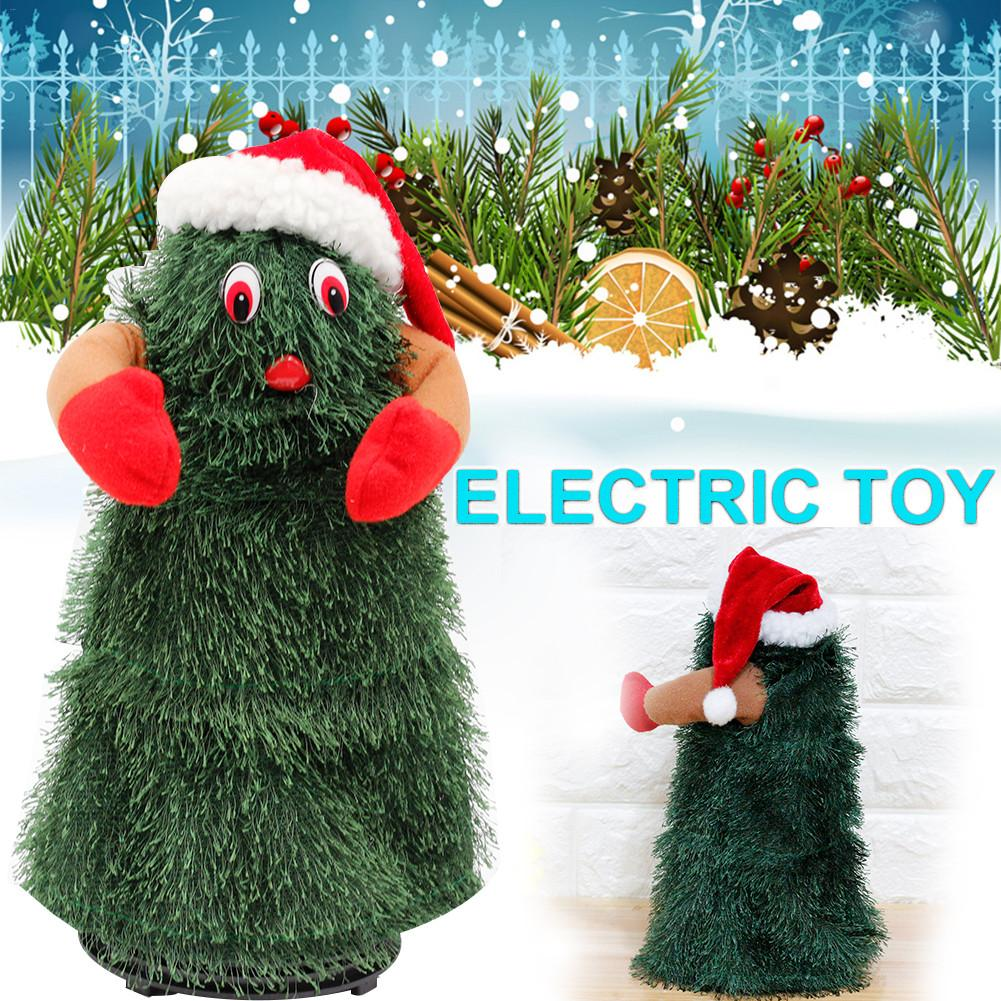 12 inch electric santa claus doll with music rotating dance tree christmas tree toy christmas present for kids no batteries in electronic plush toys from