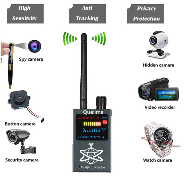 G320 アンチスパイワイヤレス RF 信号検出器 GPS カメラ信号検出器検出 GPS トラッカーワイヤレス信号検出器 40MR20
