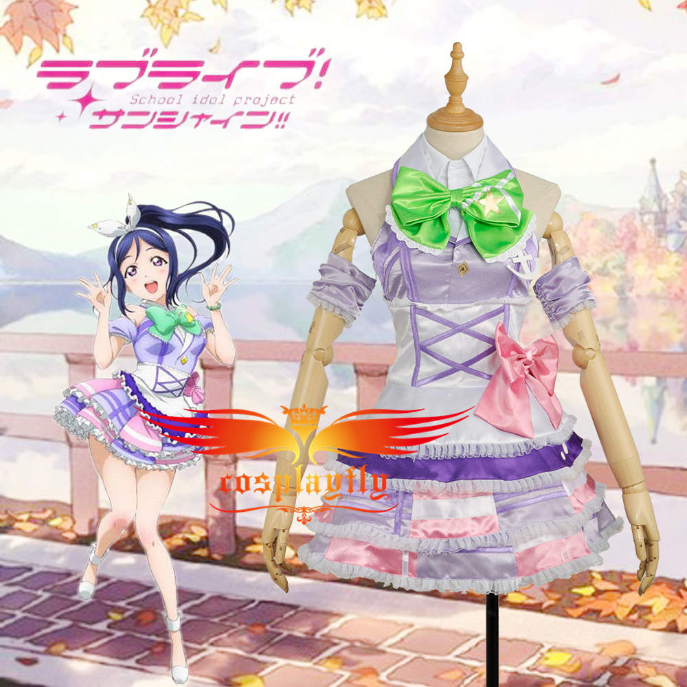 W0964-9 LoveLive!SunShine!! Aqours Matsuura kanan Stage Dress Girls Outfit Cosplay Costume  Adult Women Outfit Clothing Dress