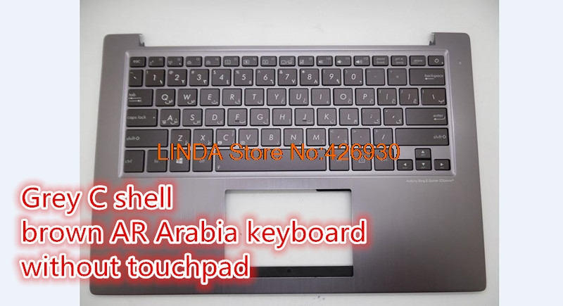Laptop PalmRest&keyboard For ASUS U38 U38D U38DT Grey C shell IT/US UI/RU/WB/JP/Brazil/Italy/ Nordic/Turkey/Taiwan keyboard