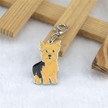 Wholesale Cat Dogs Pet Pendant Dog Tag Necklace Pendants Faithful Dachshund Schnauzer Keyring Jewelry Bag Diy