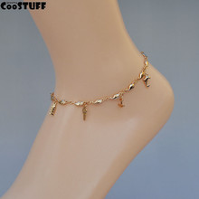 Gold Fish Anchor Key ankle bracelet tornozeleira relogio feminino tornozeleira feminina anklets for women Jewelry
