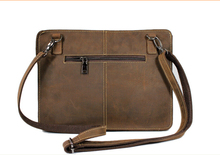 Crazy Horse Genuine Leather Small Size Men Clutch and Wallets, Leather Cross Body Small Bag for Men