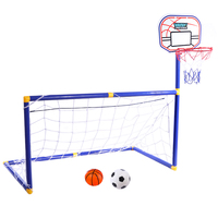 2 In 1 Children Football Goal +Basketball Stands for Kids Outdoor Toy Sports Equipment Soccer Ball Football Accessories