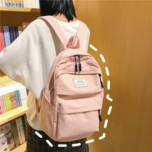 Su geçirmez sırt çantası kadın çantası geri Oxford okul gençlere yönelik sırt çantası kız okul çantaları gençler için büyük kapasiteli bayanlar çanta paketi pembe