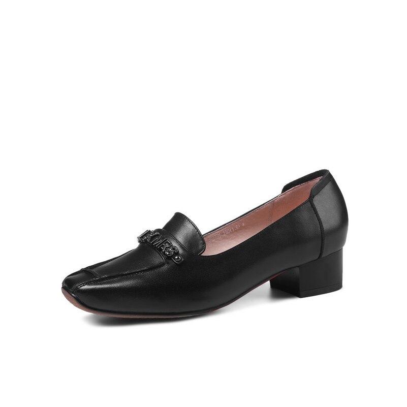 FEDONAS 2020 Marke Frauen Flach Retro Echtem Leder Schuhe Frau Komfort Casual Pumpen Arbeits Hochzeit Damen Schuhe Pumpen-in Damenpumps aus Schuhe bei  Gruppe 3
