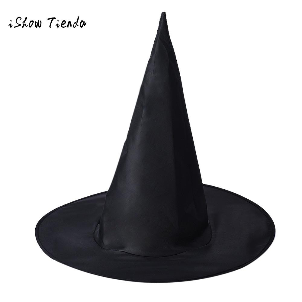 Us 0 69 30 Off 1pcs Adult Womens Black Witch Hat For Halloween Costume Accessory Birthday Party Decorations Adult Witch Accessories In Party Hats