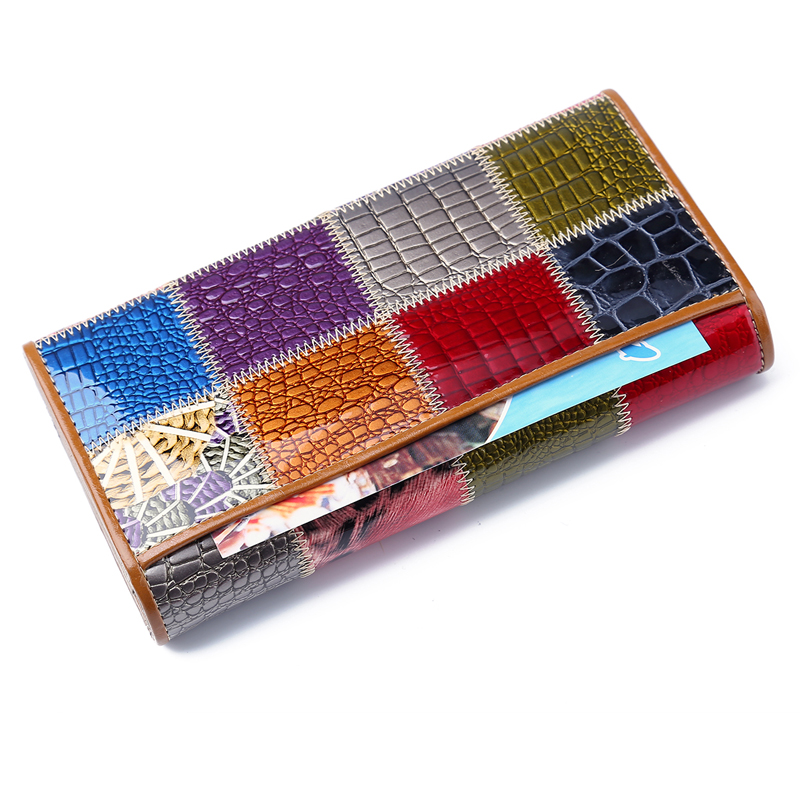 couro caixa de presente Interior : Photo Holder, bolsa de Zíper, bolso Interior do Zipper, bolso Interior do Entalhe, note Compartment, suporte de Cartão