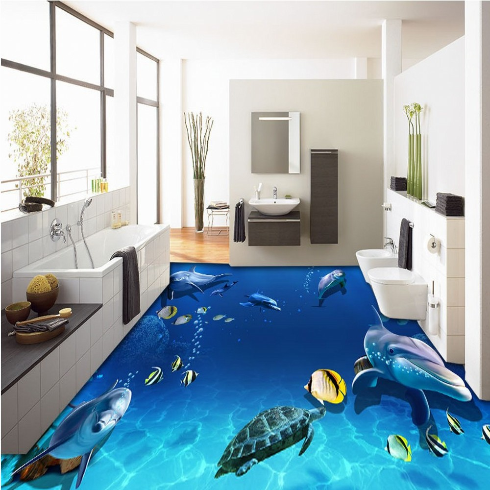 Free Shipping 3D Beautiful underwater world coral starfish 3D floor painting bedroom living room hotel floor mural wallpaper free shipping 3d rockery pool plant floral bedroom living room toilet hotel restaurant floor painting wallpaper mural