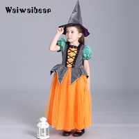 Arrival Halloween Dresses Children Kids Cosplay Halloween Party Costume For Girls Halloween Costume Party Dress With Hat