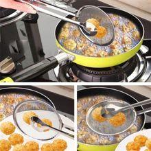 Многофункциональная фильтрующая ложка с зажимом пищевая кухня масло-Жарка салат барбекю