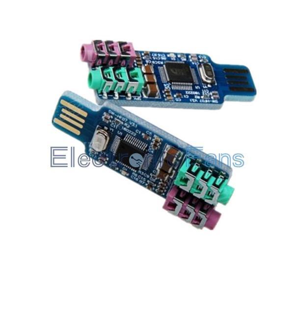 CM108 USB Drive USB Звуковая Карта Ноутбук Внешняя Звуковая Карта Модуль