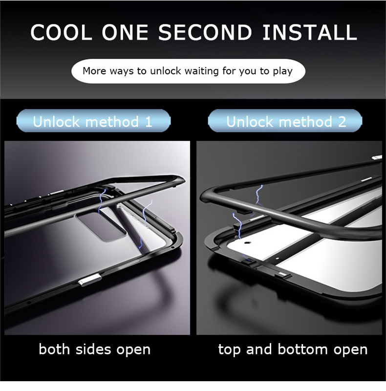 Samsung S10 Plus S10e magnet glass Case (7)