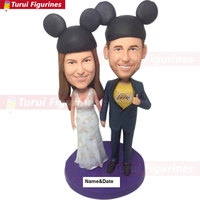 bobblehead Wedding Topper cake topper birthday Bride Groom Personalize Wedding Cake Topper LA Lakers Groom Lakers Wedding