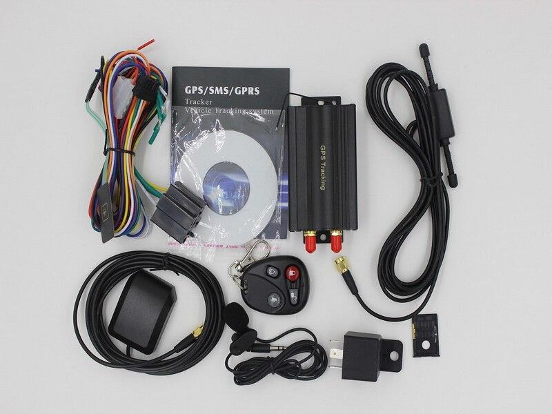 by dhl or ems 5pcs Car GPS Tracker System GPS GSM GPRS Vehicle Tracker Locator TK103B