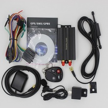 Dhl ИЛИ ems 5 шт. Автомобильный gps трекер система gps GSM Автомобильный gprs-трекер локатор TK103B с пультом дистанционного управления SD sim-карта Противоугонная