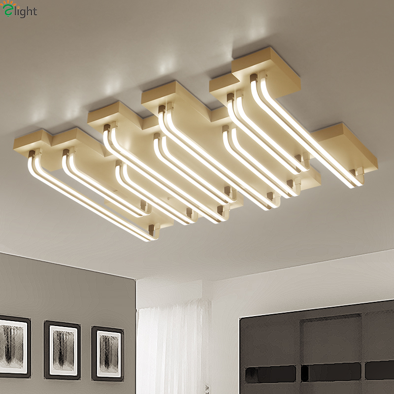 Modern Square Metal Dimmable Led Ceiling Lights Lustre Acrylic Living Room Led Ceiling Lamp Bedroom Led Ceiling Light Fixtures