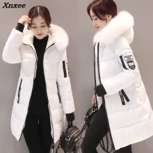 Women Parkas Winter Ladies Casual Long Coats Woman Jackets Winter Women Slim Hooded Cotton Parkas Warm Coat Outwear 2018 Xnxee цены