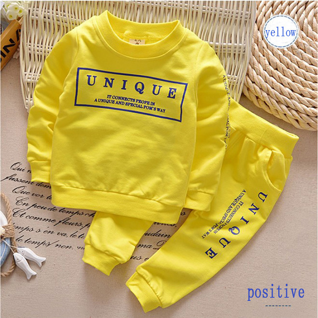 2016 new Boys clothing set kids sports suit children tracksuit girls T shirt pant  baby sweatshirt casual clothes two piece
