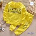 2016 nueva ropa de Los Muchachos set niños deportes traje niños chándal niñas camiseta pantalón sudadera bebé ropa casual de dos piezas