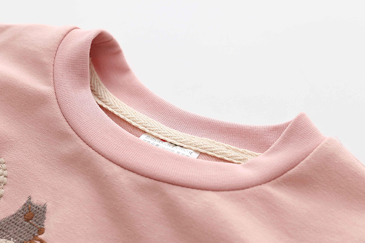 HTB16jMRheEJL1JjSZFGq6y6OXXag - Kids Girls T Shirts Autumn 2018 Fashion Embroidery Pattern Kids T Shirt Long Sleeve Simple O-neck Children Clothing B0699