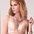 The new 2015 big cup The solid lace back Toning gathered the bra Free home delivery