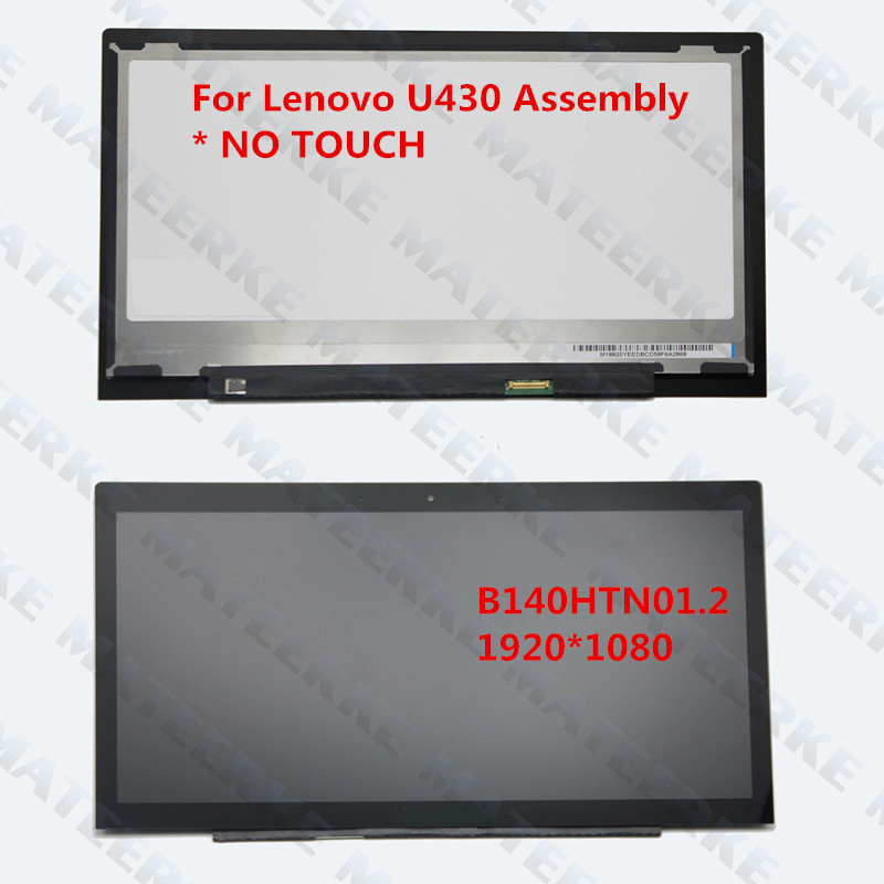 цена 14 inch 1080P Laptop LCD Screen Assembly(non-touch) for Lenovo Ideapad U430 B140HTN01.2