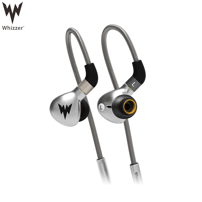 Whizzer A15 Earphone Stainless Steel Metal Earbuds HIFI Earphones Tri-frequencies Equalization Headsets With MMCX Connector original senfer dt2 ie800 dynamic with 2ba hybrid drive in ear earphone ceramic hifi earphone earbuds with mmcx interface