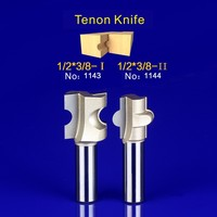 2Pcs Tongue Groove Router Bit Set 1 2 Inch Shank Tenon Knife Woodworking 1143 1144
