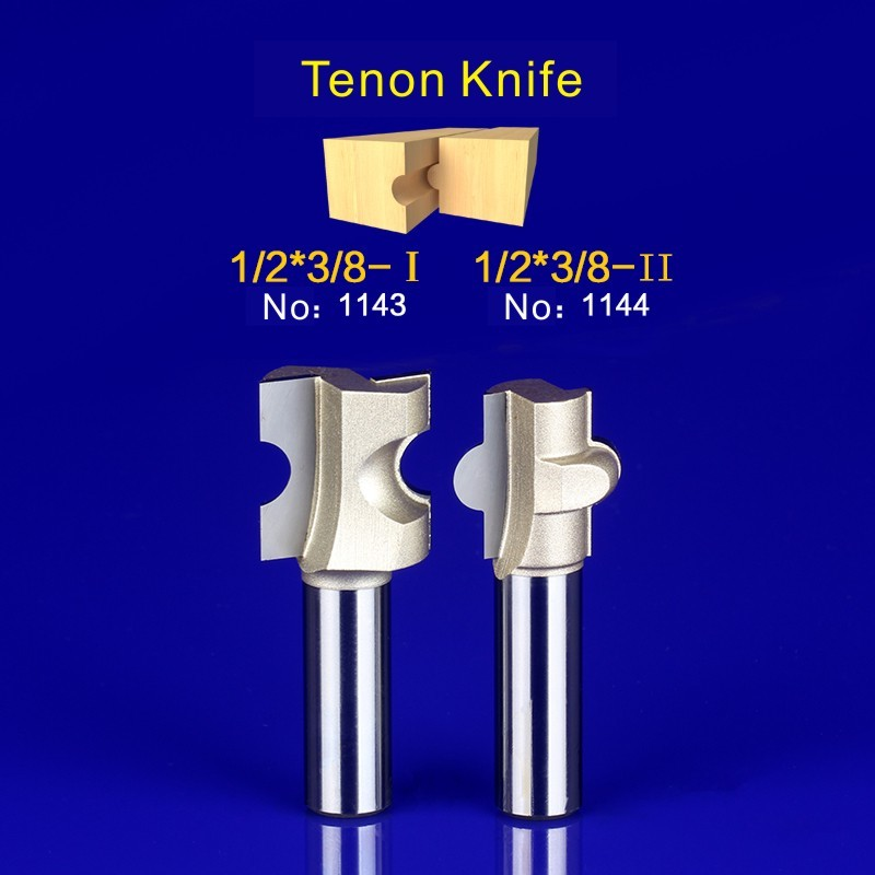 2Pcs Tongue & Groove Router Bit Set 1/2 Inch Shank tenon knife woodworking  1143-1144 2pcs tongue