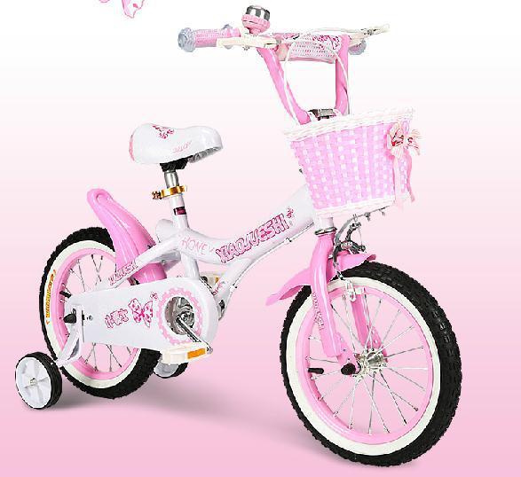 Girls 16 Inch Bike With Basket