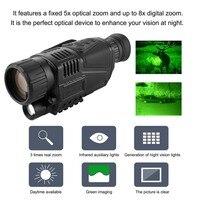 Night Vision Monocular Tactical Infrared Night Vision Telescope Military HD Digital Monocular Telescope Night Hunting Navigation