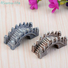 Micro Landscape Decoration Resin Palace Style Chinese Bridge Creative Craft
