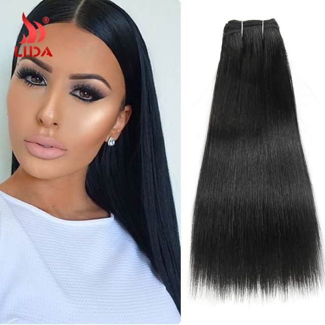 3PCS/Lot 10″ to 18″ Color1 1B 2 4 27 30 33 Futura Hair Extensions Synthetic Hair Weaving Synthetic Hair Bundles