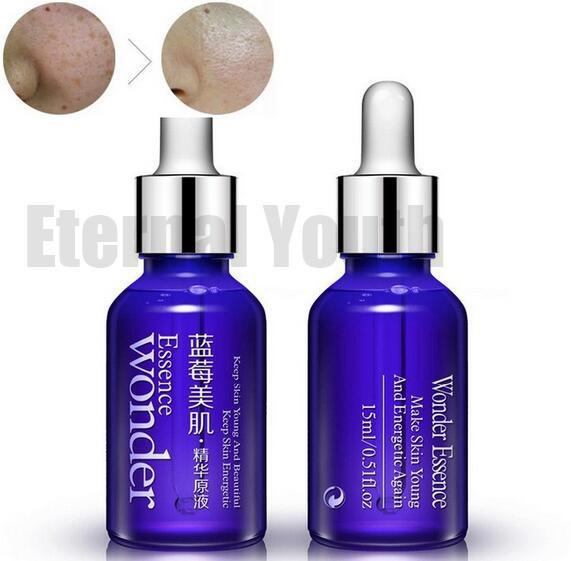 Sin edad Arándano Ácido Esencia Cuidado de La Piel Facial Lifting crema Reafirmante Hidratante Reducir Los Poros antiarrugas Líquido Fluido Elite 15 ml