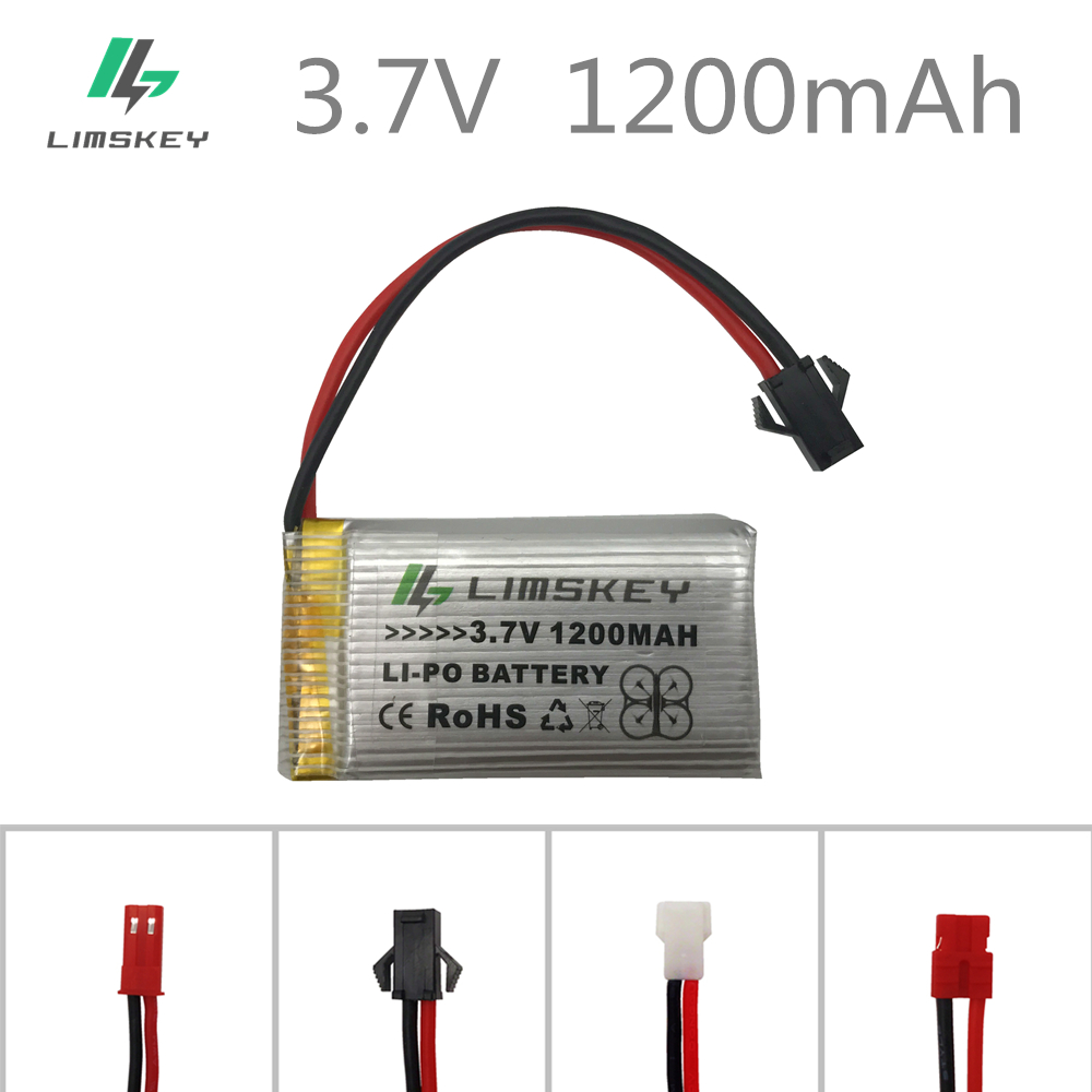 <font><b>3.7V</b></font> <font><b>1200mAH</b></font> <font><b>Lipo</b></font> <font><b>Battery</b></font> For Remote control helicopter Li-po <font><b>battery</b></font> 3.7 V 1200 mAH 25C discharge SM black plugs 903052 image
