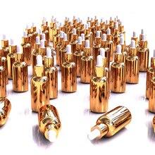 30 шт. эфирное масло флакон косметическая упаковка бутылки, цвета: золотистый, серебристый Стекло лосьон капельницы, стекло флакон-капельница 10 мл 15 мл 30 мл