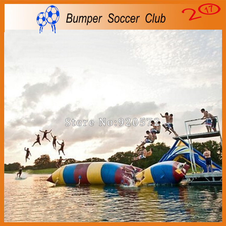 Free Shipping! Free Pump ! 12x3m Inflatable Water Blob,Water Jump,Water Catapult Blob ,Water Pillow For Sale