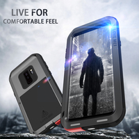 LOVE MEI Case For S9 Shock Dirt Proof Water Resistant Metal Armor Aluminum Silicon Cover Phone Case For Samsung Galaxy S9 plus